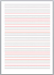 Microsoft Word 4 Line Book Stationary Template